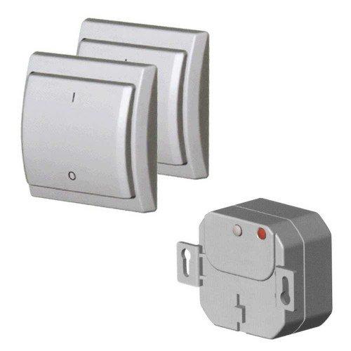 kit interrupteur sans fil loratap blanc bime electricit. Black Bedroom Furniture Sets. Home Design Ideas