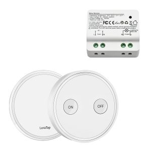 Kit Interrupteur Sans Fil LoraTap Blanc
