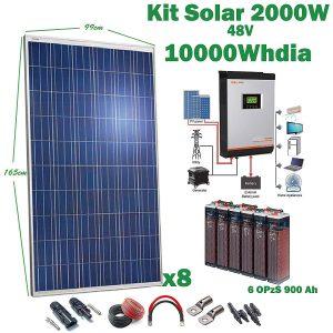 Kit Solaire 48v 2000w/10000w jour