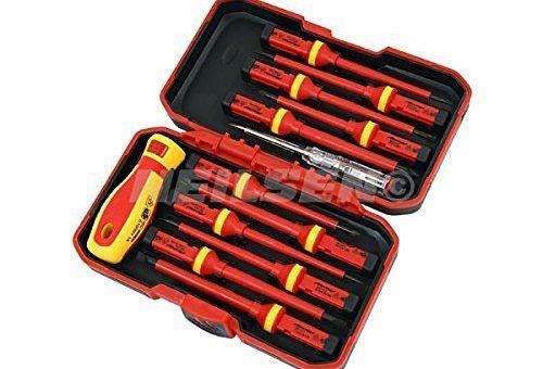 set 12 tournevis professionnels pour électriciens